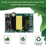 Lordpoll 450mA 5W AC-DC DC 12V 500 mA Power Supply Buck Converter Step Down Module Precision AC-DC Buck Converter