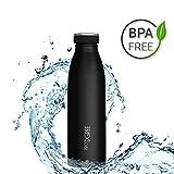 720°DGREE Edelstahl Trinkflasche milkyBottle 500ml, 0,5l | Innovative Isolierflasche | Auslaufsichere Thermosflasche | Perfekte Outdoor Thermoskanne für Kinder