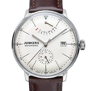 Junkers 60605 - Reloj analógico automático para hombre con correa de piel, color marrón de Junkers