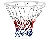 TRIXES Basketballnetz mit 12 Schleifen Rot/Weiß/Blau Nylon - Ballspiele