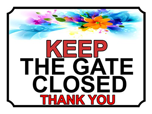 SHAWPRINT halten Sie das Tor geschlossen, Thank You-Aufschrift, 288h1s, 150x 115mm (Halten Geschlossen Tor Sie)