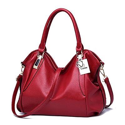 Yoome Vintage Hobo Sacs à main Sacs à bandoulière Durable en cuir sacs fourre-tout Crossbody sacs à main seau sac pour les femmes / dames