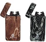 Elektrisches Feuerzeug 2 Pack - USB Aufladbare Arc Tesla Plasma Elektronisches Zigarettenanzünder - 5 Designs