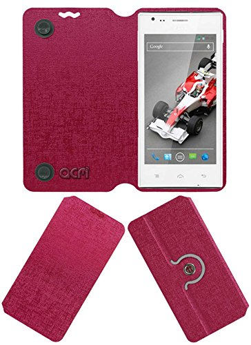 Acm Designer Rotating Flip Flap Case for Lava Xolo A600 Mobile Cover Pink  available at amazon for Rs.399
