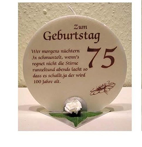 Geschenk Kerze zum 75. Geburtstag Artikel SD167121.75 Anlasskerze 75