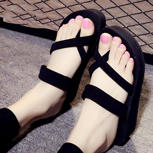 Pantoufles antidérapantes pour femme et été Chaussons pour hommes et femmes Chaussures de plage pour étudiants Chaussures pour bébés (3 couleurs en option) (taille facultative) ( Couleur : C , taille  B