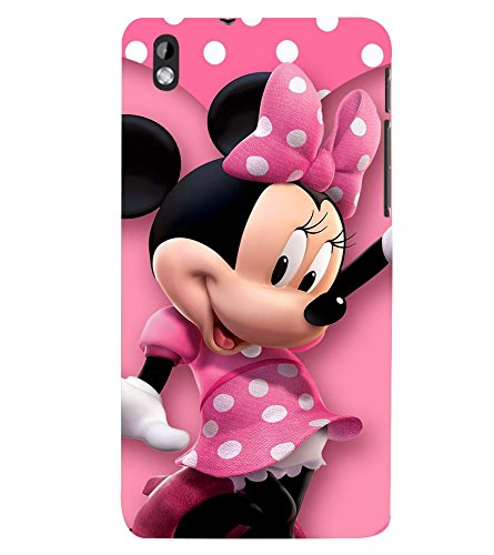 Printvisa Premium Back Cover Polka Dot Pink Mickey Mouse Design For HTC Desire 816::HTC Desire 816 G