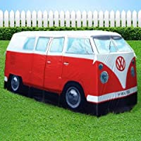 vw camper van red exact scale replica tent ~ orange ~ the iconic 1965 vw camper van