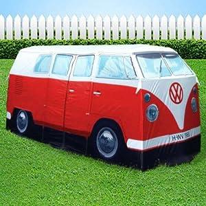 vw camper van red exact scale replica tent ~ orange ~ the iconic 1965 vw camper van