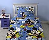Juego de edredón Disney de Mickey Mouse, estampado, multicolor, individual