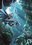 Age of Dragons Wasser Dragon Draco Aqua Fantasy Art Anne Stokes Grußkarte