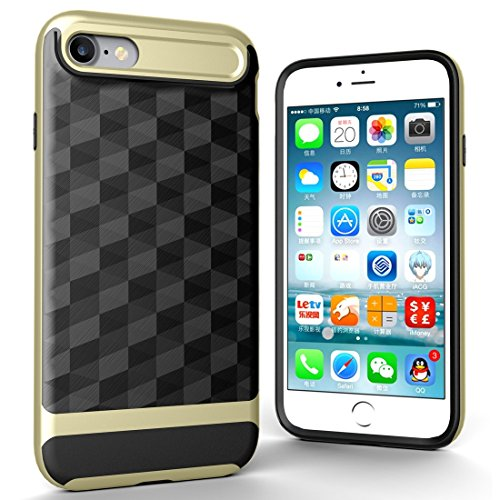 Wkae 3D Diamond PC + TPU Kombination Schutzhülle für iPhone 7 iPhone 8 ( Color : Black ) Gold