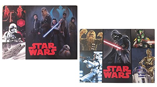 Set di tovagliette star wars: 2 tovagliette, in plastica, lavabili, 42 x 28 cm.