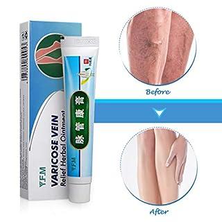 Krampfadern Creme, Y.F.M natürliche Pflanzliche Kräuter Beinpflegecreme, Beine Care Safe Herbal Cream, Varicose Vein Cream, Muskelschmerzen lindern, sanften Beinpflege 20g