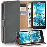 moex Huawei Y625 | Hülle Dunkel-Grau mit Karten-Fach 360° Book Klapp-Hülle Handytasche Kunst-Leder Handyhülle für Huawei Y625 Case Flip Cover Schutzhülle Tasche