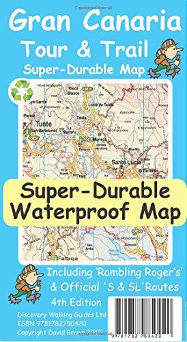Gran Canaria Tour & Trail Super-Durable Map (4th ed) por David Brawn