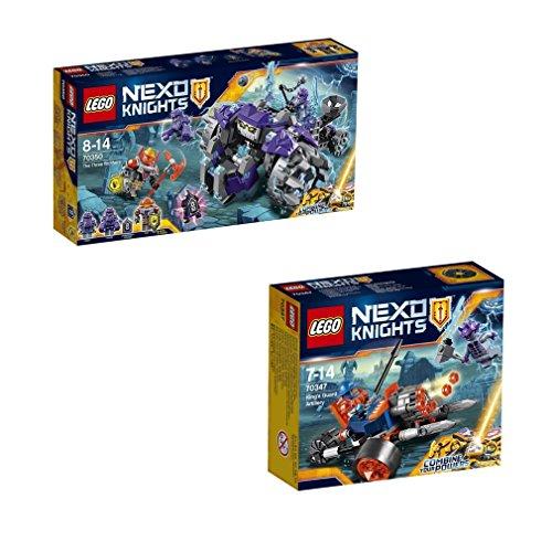 Preisvergleich Produktbild LEGO Nexo Knights Set 70350 - Triple-Rocker und LEGO Nexo Knights 70347 - Bike königlichen Wache
