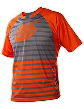 Troy Lee Designs Skyline - Maillot de ciclismo para niño, color naranja, talla L