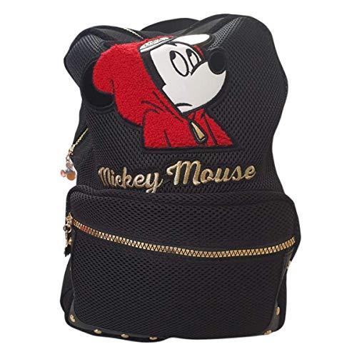 Disney Mickey Mouse Modischer Rucksack Damen Süße Hip Hop Netz Rucksack - Disney Damen Rucksack