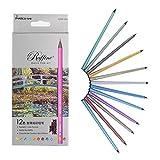 yosoo 12-color Metallic Farbige Bleistifte Fine Art Profi Zeichnen Bleistifte Malen Set für Künstler Skizzieren Secret Garden Malbuch
