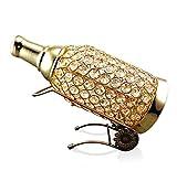 HHORD Kristall vergoldete Metall Tischlampe Weinschrank Dekoration einfache und moderne moderne Hausdekoration TV Schrank Eingang Kristall Ornamente Tischlampe (hohe 30cm, Durchmesser 12cm, Weinregal Breite 14cm)