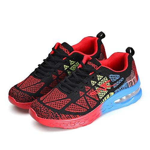 Herren Sportschuhe Turnschuhe Rutschfest Atmungsaktiv Basketball Schuhe Ausbilder Laufschuhe Red