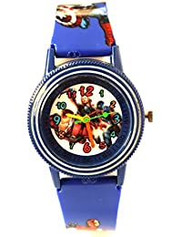 VITREND (R-TM) Avengers Round Dial New Look Watch - For Boys & Girls ( Sent As Per Available Colour)