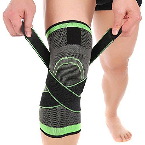 Preisvergleich Produktbild Knieschoner,UMILLER Sport Kniebandage Knieschutz,Knieschützer mit Rutschfesten Einstellbare Druck Gurt ,Knie Unterstützung für Damen und Herren (L (45-50cm))