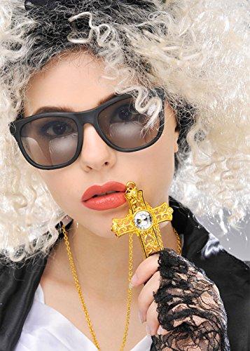 80er Jahre Madonna Style Gold Juwel Kreuz Halskette