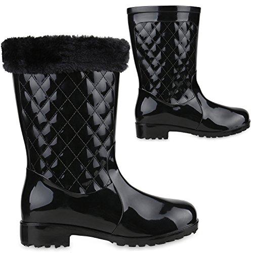 Japado - Botas de agua Mujer , color negro, talla 38 EU