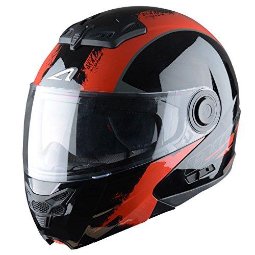 Astone Helmets Klapphelm, Venom Schwarz/Rot, M