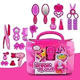 Elegante Kosmetiktasche für Kinder, mit Föhn, Kamm, Parfüm, Flasche, Lippenstift