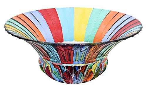 CENTROTAVOLA ADAGIO Centre de Table Cristal Peintes à la Main Couleurs Tradition Venise