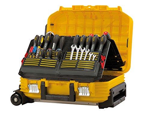 Stanley FatMax Werkzeugkoffer / Werkzeugbox (40x54x23.5cm, Werkzeugaufbewahrung mit Trolley und Teleskophandgriff, für Werkzeuge und Zubehör, fiberglasverstärkte Akkordeonstruktur) FMST1-72383 - 5