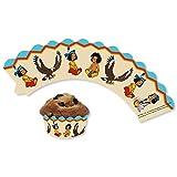 DH-Konzept Deko-Banderolen für Muffins Indianerjunge Yakari 12er Pack