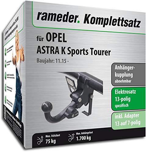 Rameder Komplettsatz, Anhängerkupplung abnehmbar + 13pol Elektrik für OPEL Astra K Sports Tourer (148709-14870-1)