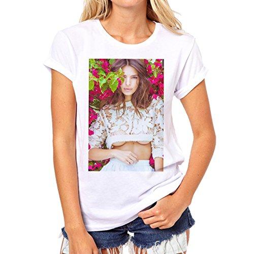 We Are Your Friends Movie Summer WAYF Emily Ratajkowski In The Bush Background Damen T-Shirt Weiß