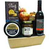 SHERBORNE CHEESE HAMPER & RED WINE - Traditional Cheese Gifts Luxury & Gourmet Cheese hampers by Eden4hampers