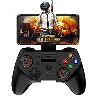 Bluetooth Gamepad Controller for Fornite PUBG, Koiiko Key Mapping Joypad for iOS & Android iPhone Samsung Galaxy HTC LG & Tablet, Support Online Action Shooting Racing Sport Game - No Simulator Needed