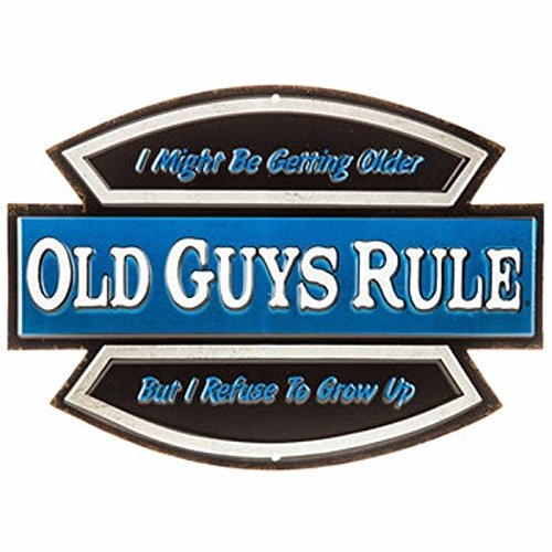 e Erste Older-Refuse to Grow up Fun Garage Schild Over The Hill Party Retirement ()