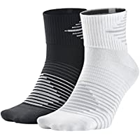 Nike 2PPK Running DRI-FIT Ligh Pack 2 Pares Calcetines, Hombre, Rojo,