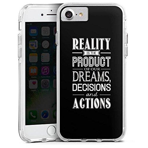 Apple iPhone 6 Bumper Hülle Bumper Case Glitzer Hülle Dream Traum Phrases Bumper Case transparent