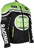 Textil Motorradjacke (2XL, Neon / Grün)