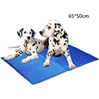 "Lauva Dog Cool Mat, Dogs Self Cooling Gel Mat Pads Pet Cat Cool Beds for Dog Crates, Kennels and Beds--26"" X 20"" (65X 50 cm)"
