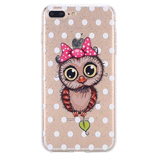 de935b49546 Custodia iPhone 7 Plus, Case Cover iPhone 8 Plus in Silicone Glitter TPU,  Surakey Bumper iPhone ...