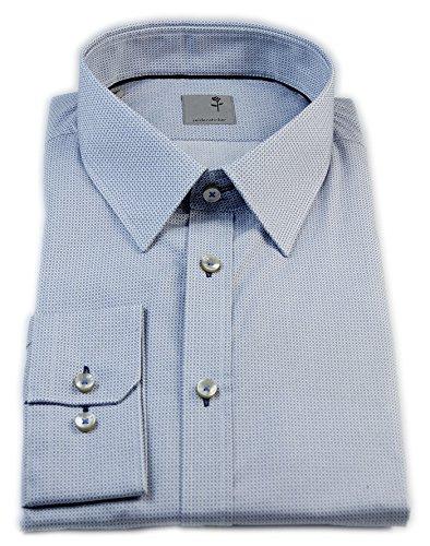 Seidensticker Herren Langarm Hemd Schwarze Rose Slim Fit Modern Kent Print Extra langer Arm grau / weiß strukturiert 243105.33 Grau