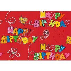Susy Card 11248739 - Papel de regalo (10 m), diseño de corazones, color rojo
