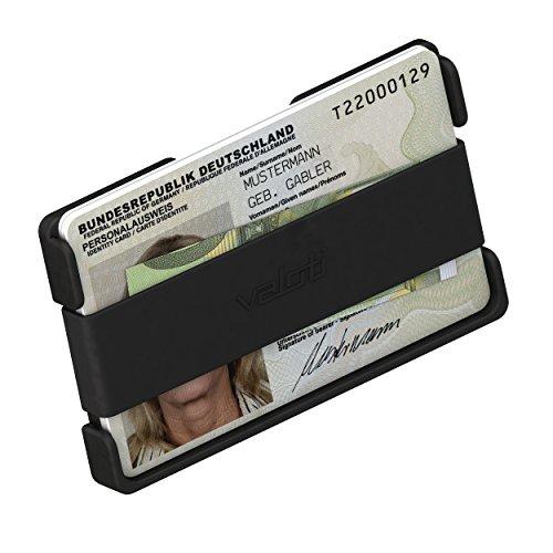 Card Manager Cabrio, slim-wallet aus Alu (kleiner Geldbeutel, dünnes Portemonnaie , Kreditkarten-Etui, card-holder, Geldbörse, Portmonee, Münz-Schlüssel-Fach, Brieftasche für Minimalisten) (Wave-pocket-jean)