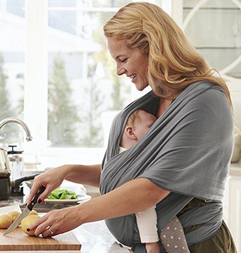 Babytragetuch - bei 60 Grad waschbar - für Neugeborene und Babys bis 15kg - inkl. Trageanleitung und Aufbewahrungsbeutel - liebevolles Design von Kreuzer - 3