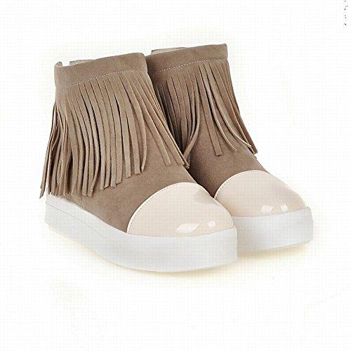 Mee Shoes Damen mit Quaste niefrig kurzschaft Stiefel Beige